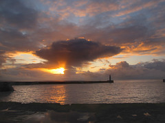 A beginning or the end ? (paul downing) Tags: lighthouse sunrise canon spring harbour northsea seaham pdp dockside coastaluk pd1001 sx10is pauldowning