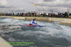 Thomas Quinn, Canoe Men's Single. (ActPact) Tags: uk greatbritain england london sports pool muscles grit holding energy whitewater europe britishisles champion canoe rapids h international manmade strong strength pointing endurance stress goldmedal tense westerneurope scoring courage individual wellness worldrecord healthiness physicalfitness britishsquad