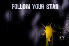 Follow your star (Claudio Cantonetti) Tags: wallpaper urban white black color art texture stain wall illustration ink watercolor creativity design paint pattern graphic bright image artistic drawing background grunge decoration spot drop photographic spray drip vandalism backdrop splash conceptual dye effect liquid textured followstaryourlockyellowdoormetal
