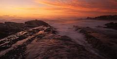 Currumbin sunrise (Mark Wassell) Tags: ocean seascape beach water sunrise rocks australia brisbane queensland currumbin goldcoast waterflow seq