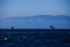 Washington State, Juan de Fuca Strait (cliff.hellis) Tags: ocean sea usa canada mountains water landscape britishcolumbia ships unitedstatesofamerica explore creativecommons