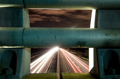 Freeway Freeze-Frame (polymira) Tags: longexposure cars night nikon highway freeway lightpaint d90