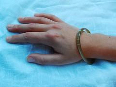Horny Bangle in situ (Blind Spot Jewellery) Tags: blind contemporary jewelry spot jewellery jewel blindspot blindspotjewellery