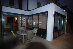 "Amherst Rear Extension with feature lighting at night • <a style=""font-size:0.8em;"" href=""https://www.flickr.com/photos/77639611@N03/7052185695/"" target=""_blank"">View on Flickr</a>"