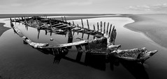 Star of Hope Wreck Ainsdale Beach low tide (frazerweb) Tags: