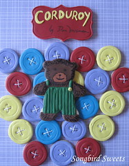 Corduroy! (Songbird Sweets) Tags: buttons corduroy sugarcookies songbirdsweets
