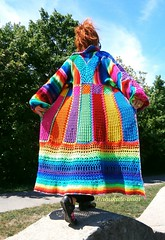 Knitted Crocheted Granny Patchwork Multicolor Multimotif Striped Hippie Crochet Coat (babukatorium) Tags: pink blue red orange color green art lana wool fashion yellow square sweater rainbow colorful purple recycled handmade mosaic turquoise teal burgundy oneofakind coat crochet moda peach violet knit style shades shade bow gradient hexagon hippie knitted patchwork psychedelic filet arcobaleno cardigan bohemian pentagon multicolor striped whimsical darkblue mintgreen maglia haken icord hkeln emeraldgreen croch grannysquares ganchillo babypink fuxia uncinetto fattoamano  tii horgolt uvgreen babukatorium
