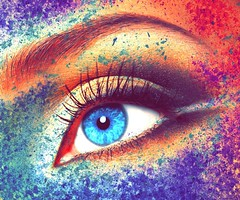 FORGET - A painted dream (Jack.Less) Tags: woman eye love wonderful painting donna colorful paint post dream surreal passion production dust jacopo occhio compositing spina dreamful jackless jacklesspop jacklesshop
