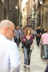 In the streets of Florence (michael_hamburg69) Tags: street italien people italy woman florence italia candid strangers tourist tuscany firenze frau toscane florenz toskana