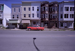 (patrickjoust) Tags: auto county leica city light shadow red usa house color abandoned film home car analog america 35mm town us focus automobile fuji mechanical 21 pennsylvania cosina united small voigtlander country north patrick rangefinder row m mount pa vacant vehicle 100 konica states manual coal joust f4 stree cv reala rf schuykill konicahexar estados hexar 21mm colorskopar screwmount c41 unidos colorskopar21mm mahanoycity fujireala100 m39 mahanoy autaut voigtlandercolorskopar21mmf40 patrickjoust