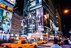 NYC (Meroon991) Tags: new york city nyc usa night square nikon taxi times meroon d3000 meroon991