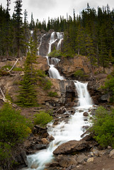 roadside waterfall remix (raspberrytart) Tags: canada water waterfall nationalpark nikon jasper alberta d80