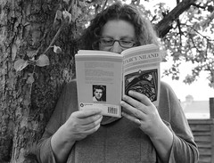 """Megg reading D'Arcy Niland • <a style=""""font-size:0.8em;"""" href=""""http://www.flickr.com/photos/81015582@N06/7570198434/"""" target=""""_blank"""">View on Flickr</a>"""