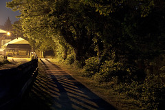 Tow Path ( estatik ) Tags: new trees light hot night canon dark rebel lights canal long exposure whisper alone quiet photographer shadows silent path dr nj images historic silence jersey getty lonely delaware tow humid lambertville raritan