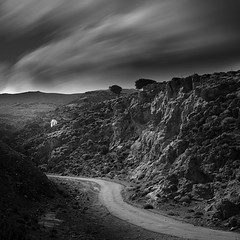 Chapel Hill.. (Peter Levi) Tags: road longexposure blackandwhite bw mountains blancoynegro clouds rocks hill kreta chapel le crete 1740mm kriti nd110 5dmkii bestcapturesaoi mygearandme mygearandmepremium mygearandmebronze