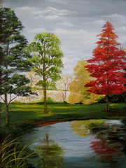 Autumn Reflections -oil