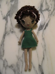 Dee in Green Dress (Njtexas94) Tags: family crochetdolls freespiritamigurumi