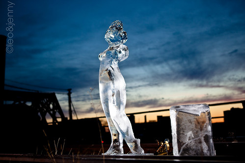 Ice Justice Ice Sculpture  @ Sunset