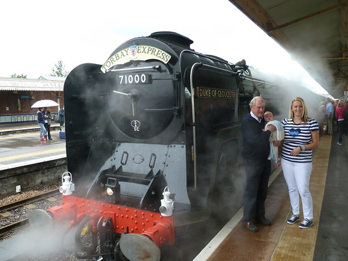 Family travel - Great great grandfather beside steam loco on birthday journey