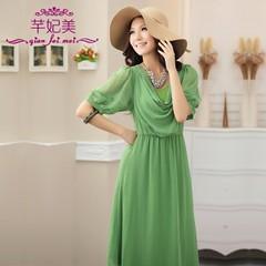 Korean Fashion Pure Color Chiffon Dress (koreanjapanclothing) Tags: summerdress koreanfashion chiffondress