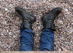 Beach Boots (Raphooey) Tags: uk england southwest west beach festival boot dance dancers boots folk south sid shingle dancer pebbles jeans international devon valley esplanade promenade gb week sidmouth