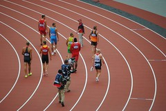 The decathletes head to their second event (zawtowers) Tags: park morning london wednesday athletics britain stadium daniel great august games event finish second session 100 olympic olympics heading olympicpark 8th stratford 2012 decathlon london2012 metres teamgb awde