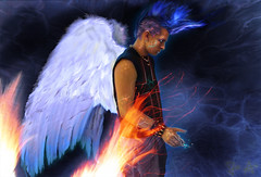 Michael (Tristan Viridis) Tags: alexis blue light corinne tristan angel brooklyn dark fire algeria michael hall wings energy artist magick magic mohawk balance archangel brooklynite alchemy magician viridis birdbrain blackscarab333 supremediva esohysteria