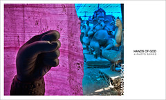 hands of god (swarat_ghosh) Tags: pink blue nikon hand wideangle series tamron idols lordganesha cley photoessay worldphotographyday photoseries secunderabad clayidols swaratghoshphotography