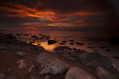 AFTERGLOW_DSC6766_E (antelope reflection) Tags: sunset color reflection water clouds antelopeisland utahstatepark nikond90 tamron1024 grearsaltlake