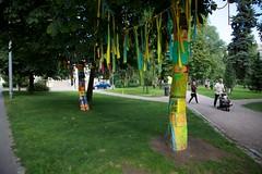 Knit'n'Tag 2012 valmiit (Supafly Helsinki street art office) Tags: city urban color art graffiti helsinki colorful spray knitted hel tila happi street art katutaide supafly nuoret kaupunkitaide julkinen neulegraffiti nuorisoasiainkeskus muotoilevat maailmaa