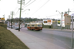 p793 - mar 1965, Bloor at Indian Grove, Toronto, Canada (Photos from the 1950s) Tags: old city toronto streets color cars film vintage buildings photo spring ttc slide scan photograph kodachrome 1965 bloorstreet indiangrove