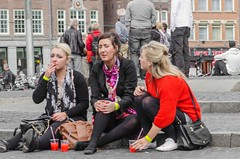 join  a  joint (105mm) Tags: street girls people woman sun sexy dutch amsterdam fashion shopping happy women shoes colorful pretty candid smoke panty streetphotography style meeting streetlife skirt blond upskirt seethrough pantyhose cannabis joint stad eten treet streetparty straat mensen streetportraits streetdiner