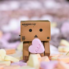 Candy heart (Pamba-) Tags: pink cute love japan robot kiss candy heart you sweets yotsuba danbo revoletech
