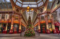 The Leadenhall Market is ready for Christmas (HDR) (Alexandre Moreau | Photography) Tags: christmas city light london for leadenhallmarket decoration christmasmarket christmastree marchdenol ready nol hdr 2012 londonist nikond7000 christmas2012