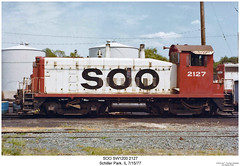 SOO SW1200 2127 (Robert W. Thomson) Tags: railroad train illinois diesel railway trains locomotive trainengine sooline soo schillerpark switcher switchengine emd sw1200 sw12 fouraxle endcabswitcher