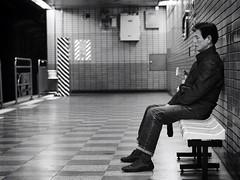 Untitled (nabruneau) Tags: monochrome subway korea seoul southkorea 45mm omd m43 u43 microfourthirds