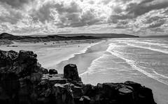 The Strand (Glenn Cartmill) Tags: uk ireland sea sky blackandwhite beach water monochrome clouds eos sand scenery holidays unitedkingdom glenn scenic northernireland portstewart ulster northcoast countylondonderry 2013 650d picturesofireland glenncartmill