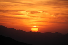 ON THE BRINK (outdoorpict) Tags: sunset red orange mountain colors phoenix lines clouds pretty desert south hills firey