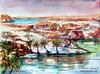 CHAD. Tibesti. (Laura Climent) Tags: africa lake chad paisaje landscsape tibesti acuarelalauracliment dibujolauracliment