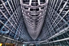 Modern Architecture (hidesax) Tags: japan architecture night tokyo nikon raw steel modernarchitecture hdr tif chiyodaku marunouchi 5xp hidesax d800e
