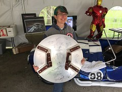 """Tracey and the Captain America Shield • <a style=""""font-size:0.8em;"""" href=""""http://www.flickr.com/photos/28558260@N04/26485796804/"""" target=""""_blank"""">View on Flickr</a>"""