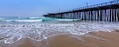 Evening Surf (Calpastor) Tags: ocean california travel sea vacation seascape beach landscape coast pier waves pacific surfer tide spot seafood pismo clams