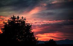 Washington Sunrise (Joseph Eckert) Tags: trees red summer cloud sun sunlight mountains color tree yellow clouds zeiss sunrise landscape one nikon colorful cloudy may apo pro f2 capture 91 135mm c1 sonnar captureonepro captureone zeiss135mm zeiss135mmf2 zf2 d800e