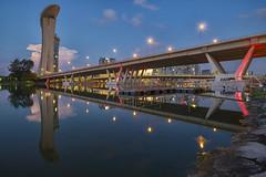 Under Bridge Reflection (Jacobs LB Chong) Tags: morning bridge reflection marina landscape bay singapore mbs 2812 xt1 touit