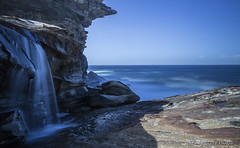 The Waterrun Royal National Park (Tony Hugo) Tags: sea sky cliff sun water rock canon waterfall track shire bushwalk bundeena royalnationalpark sutherlandshire waterrun canoneos6d