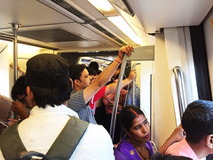 Her Life in the Outside of Her World (Mayank Austen Soofi) Tags: woman metro delhi commuter walal