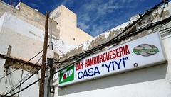 hamburgueseria (kozdro) Tags: bar spain lanzarote hamburger typo signboard 7up arrecife