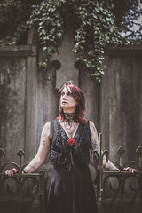 Shooting - Abysse 011 (Thomas Mathues) Tags: portrait cemetery graveyard dark model photoshoot mourning belgium belgique tomb gothic goth shooting widow gothique tombe cimetire modle hainaut