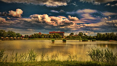 (m r z l t n) Tags: sky cloud house lake building reed architecture clouds landscape restaurant hotel fishing gallery cityscape view outdoor perspective shift lakeside tilt tiltshift