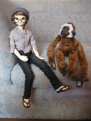 Time for Adventure 001 (EmpathicMonkey) Tags: toby ball toys happy monkey photo dolls olive story bjd jointed bluefairy